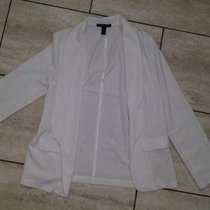 S forever 21 white lightweight blazer